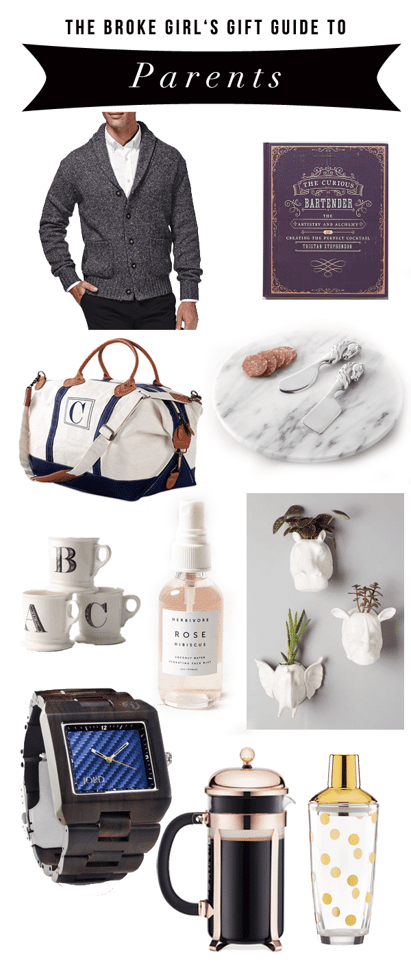 Broke Girl's Gift Guide to Parents