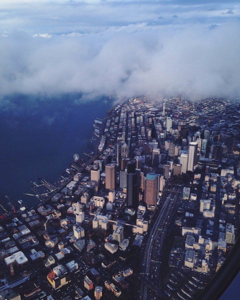Seattle from a plane