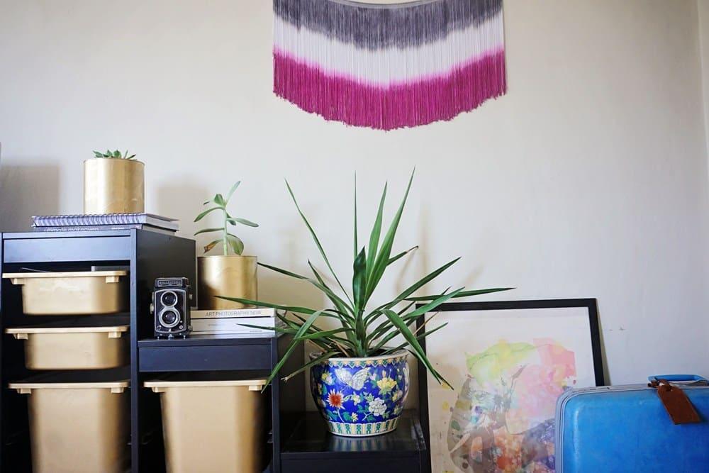Boho fringe studio home decor by Crafturday