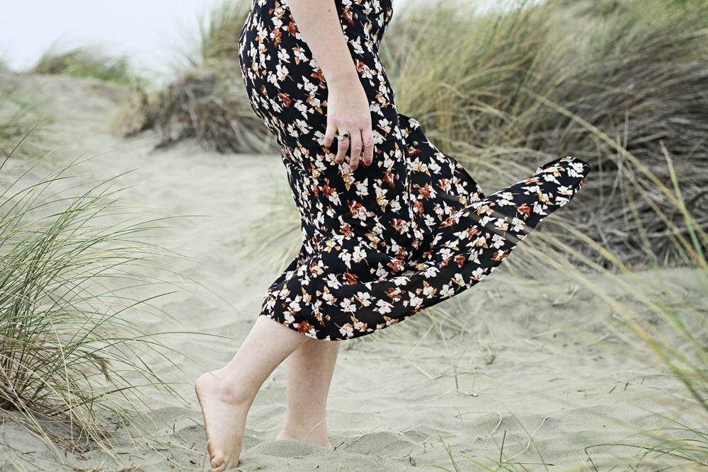 Floral Maxi Dress by Le Chateau