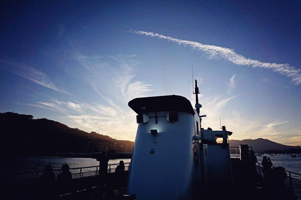 sailing at sunset san francisco
