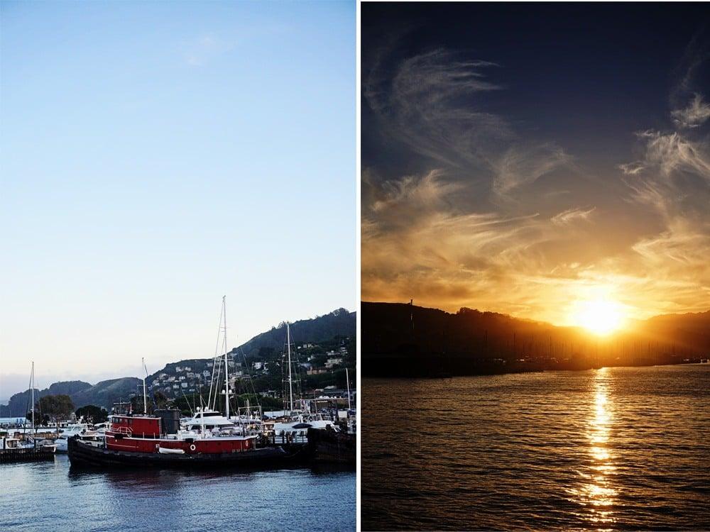 sunset cruise in San Francisco Bay