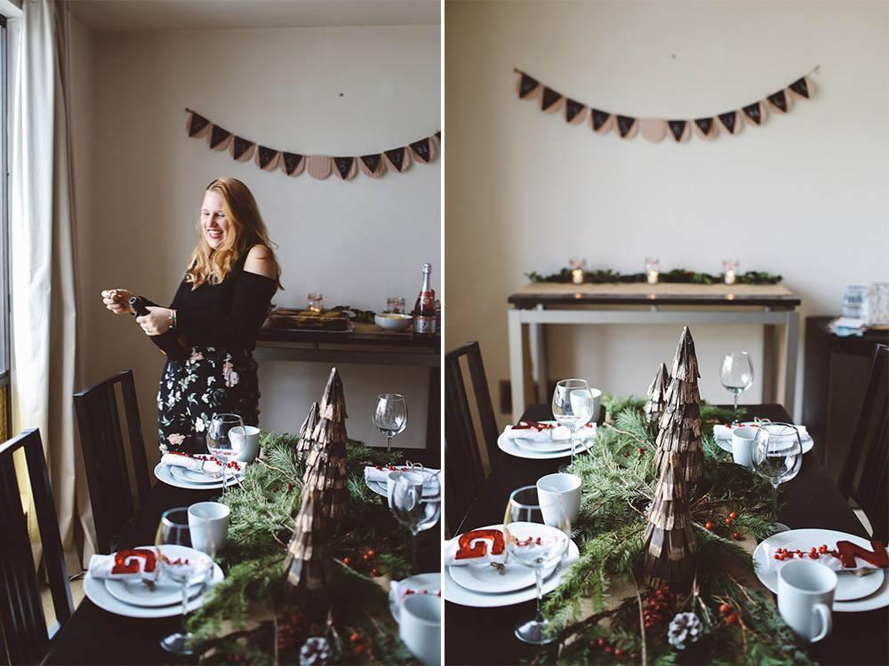 Christmas Brunch table decor