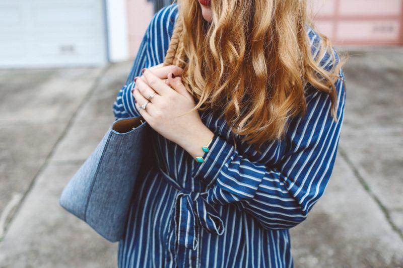 Blue Striped Dress Gap