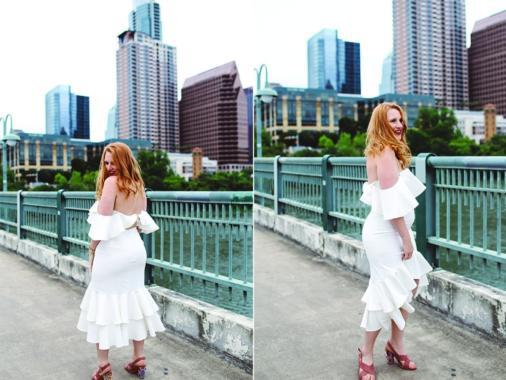 White Custom Dress from Fame and Partners
