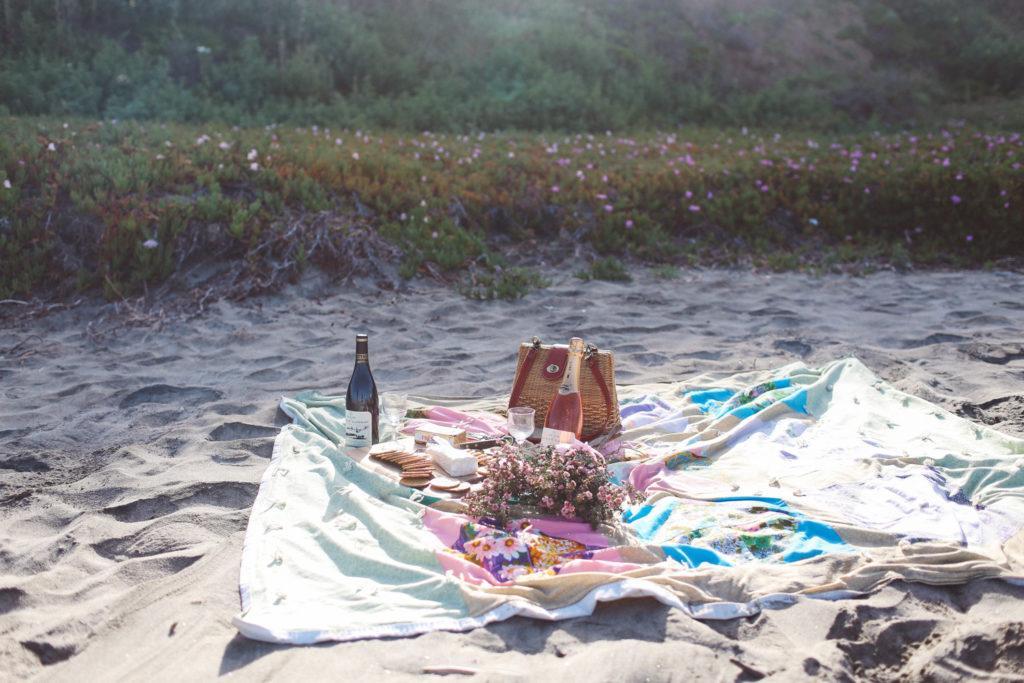 Picnic at Tunitas Beach, California