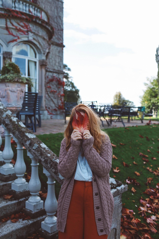 Killkenny hotel estate Lyrath red leaf face woman