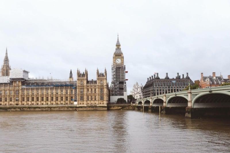 London big ben river