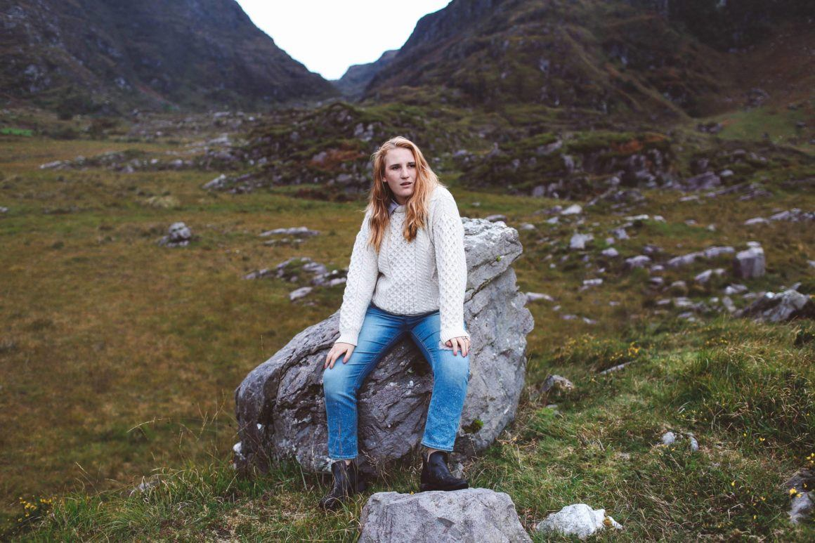 ring of kerry ireland white sweater