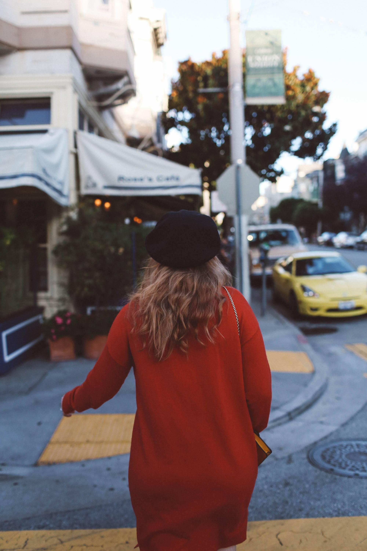 red sweater dress beret target