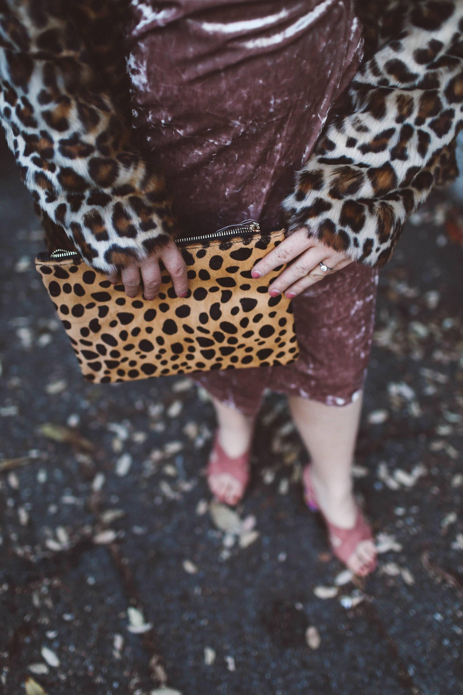leopard purse