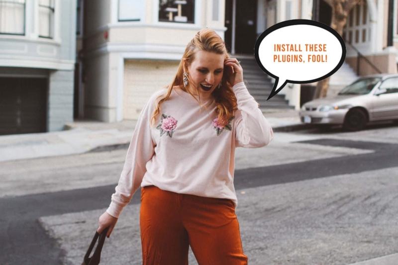 pink rose sweater orange pants