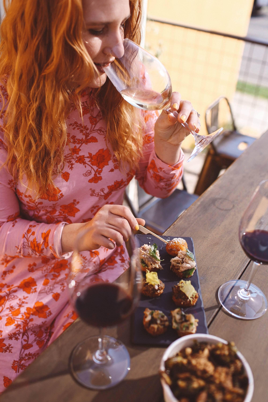 clif family wine food flatlay