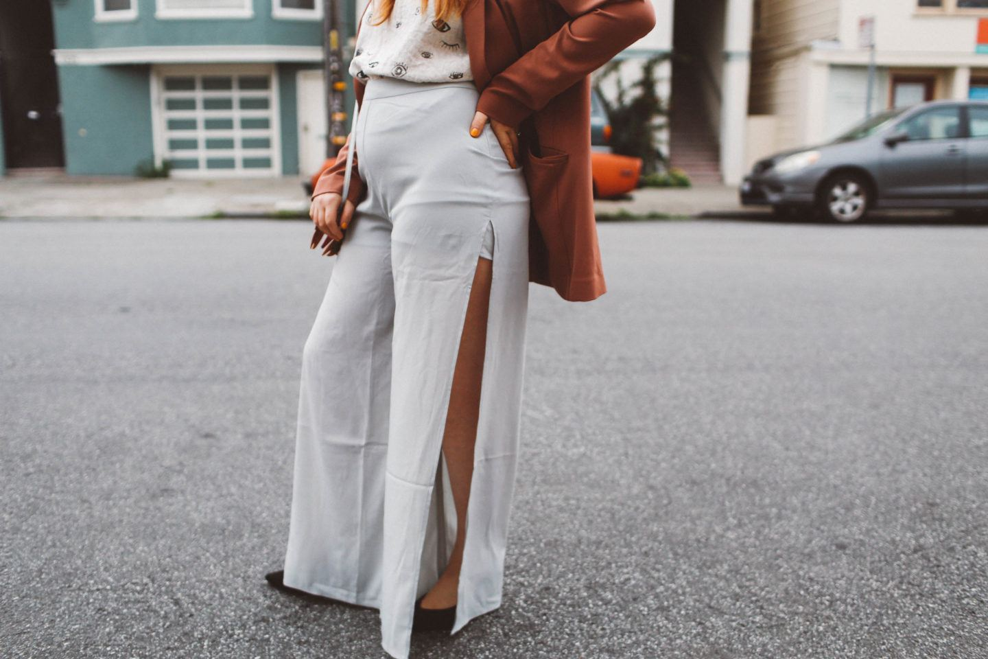 9 Wide Leg Pants With Side Slits To Try