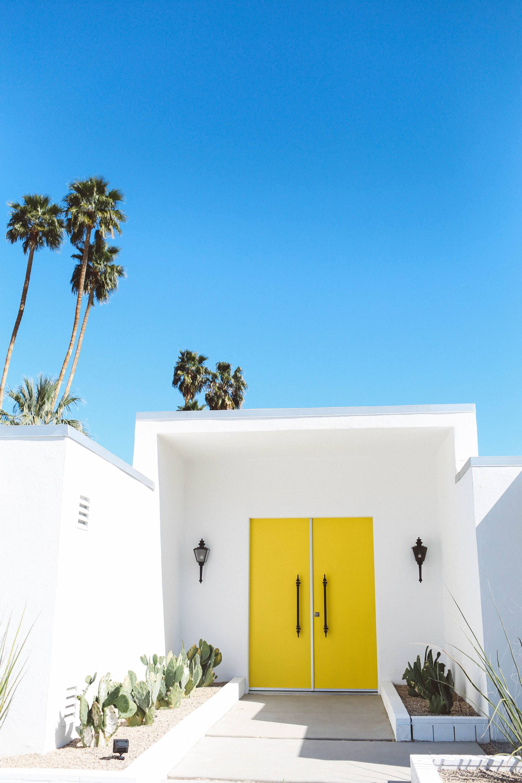 Palm springs door tour yellow door