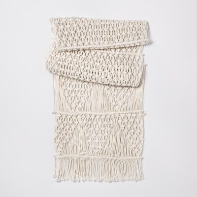 CREAM MACRAMÉ TABLE RUNNER