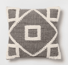 Black Diamond Throw Pillow