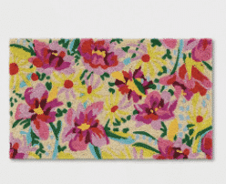 Pink Floral Tufted Doormat