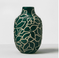 Floral Earthenware Vase