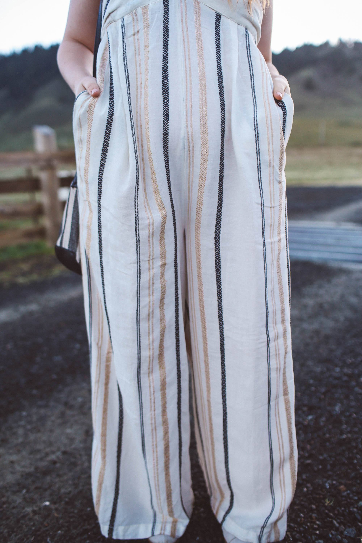 stripped jumpsuits curvy women