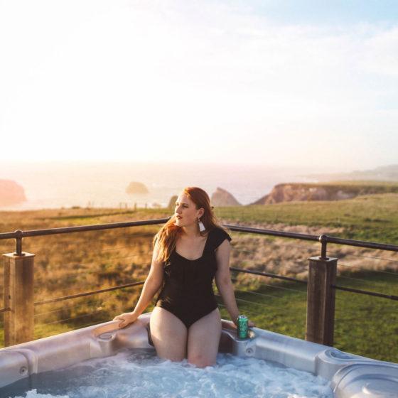 hot tub mendocino outdoor