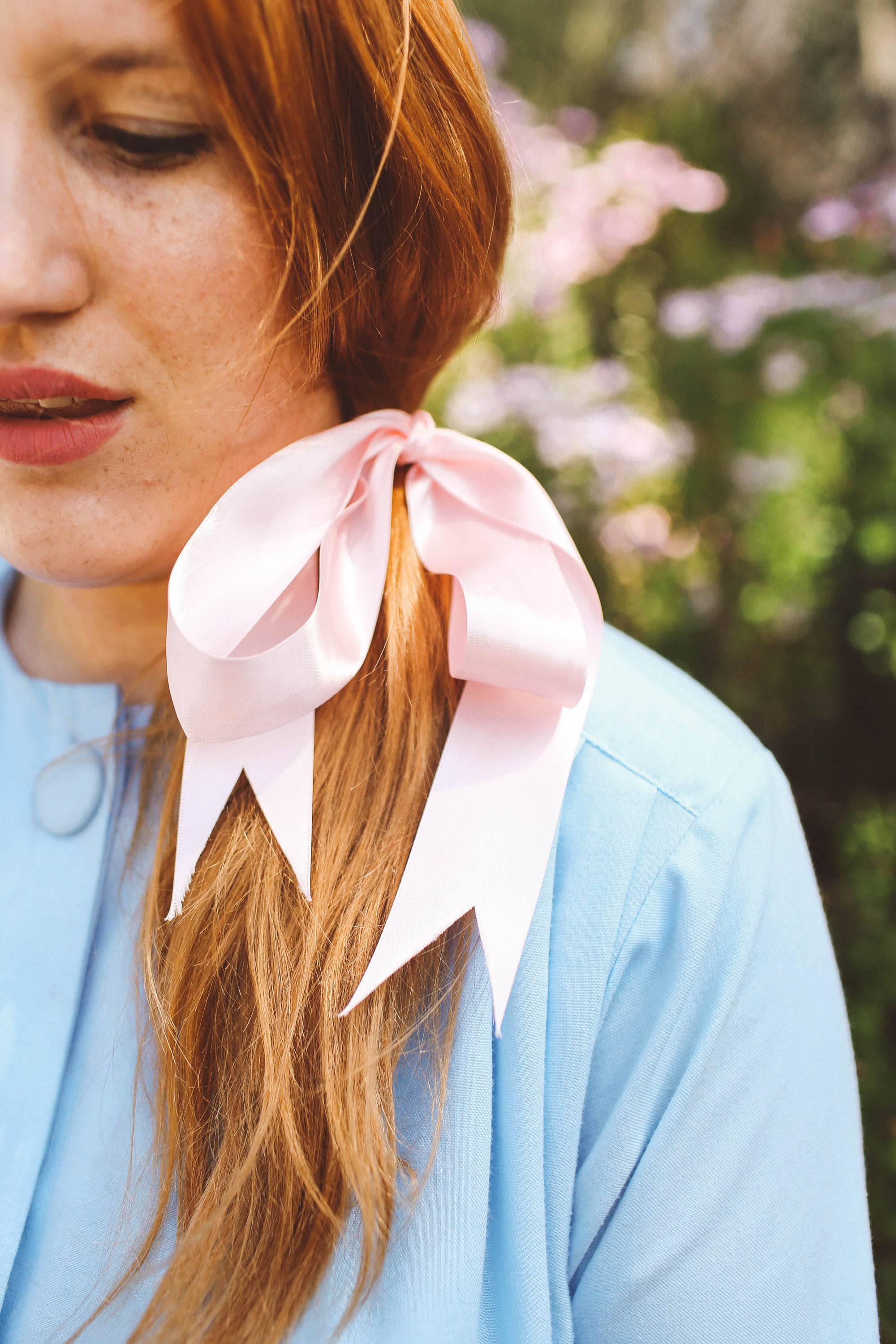 hair bows for spring, pink hair bow