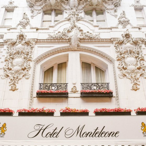 front of Hotel Monteleone in New Orleans