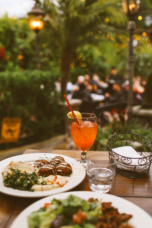 food and drinks at Zaytoon in Santa Barbara
