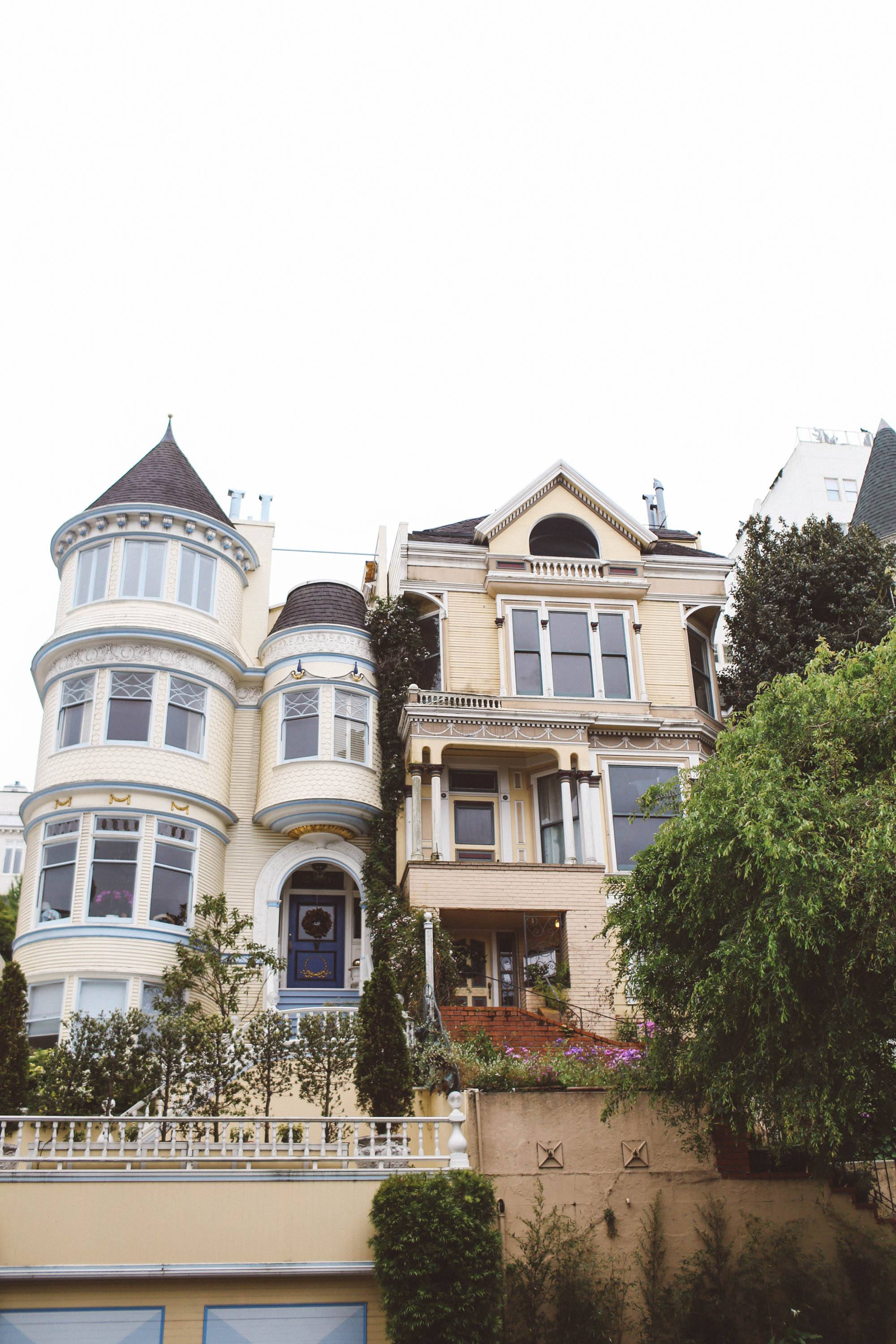 Amazing houses in the Marina District in San Francisco