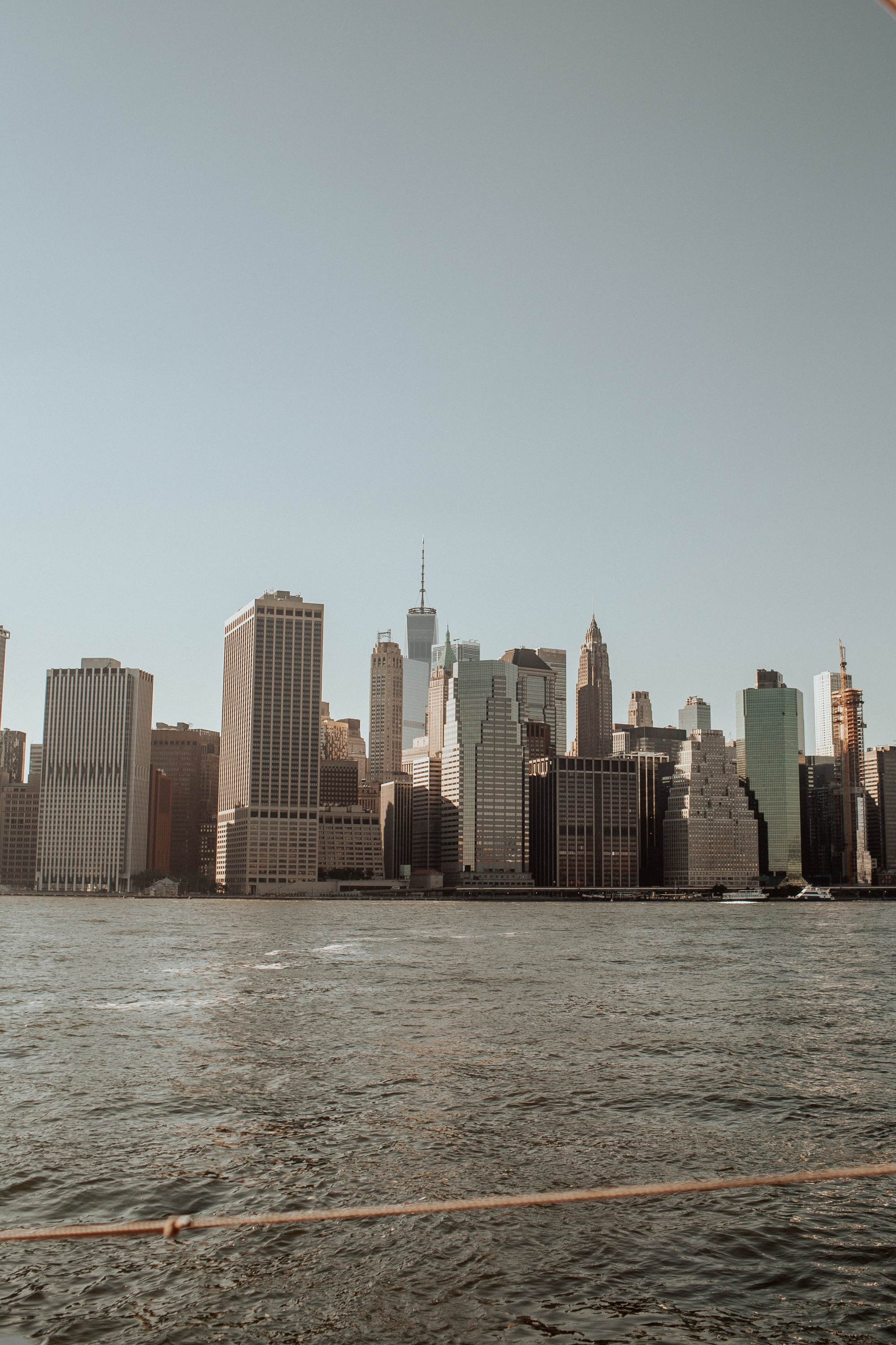 view of Manhattan from across the Hudson River.