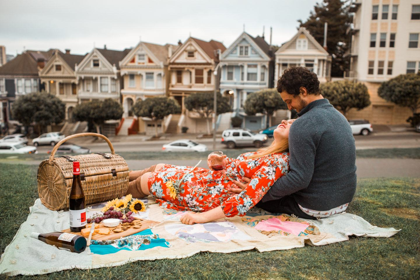 Our Cute AF Picnic with German Wines at the Painted Ladies