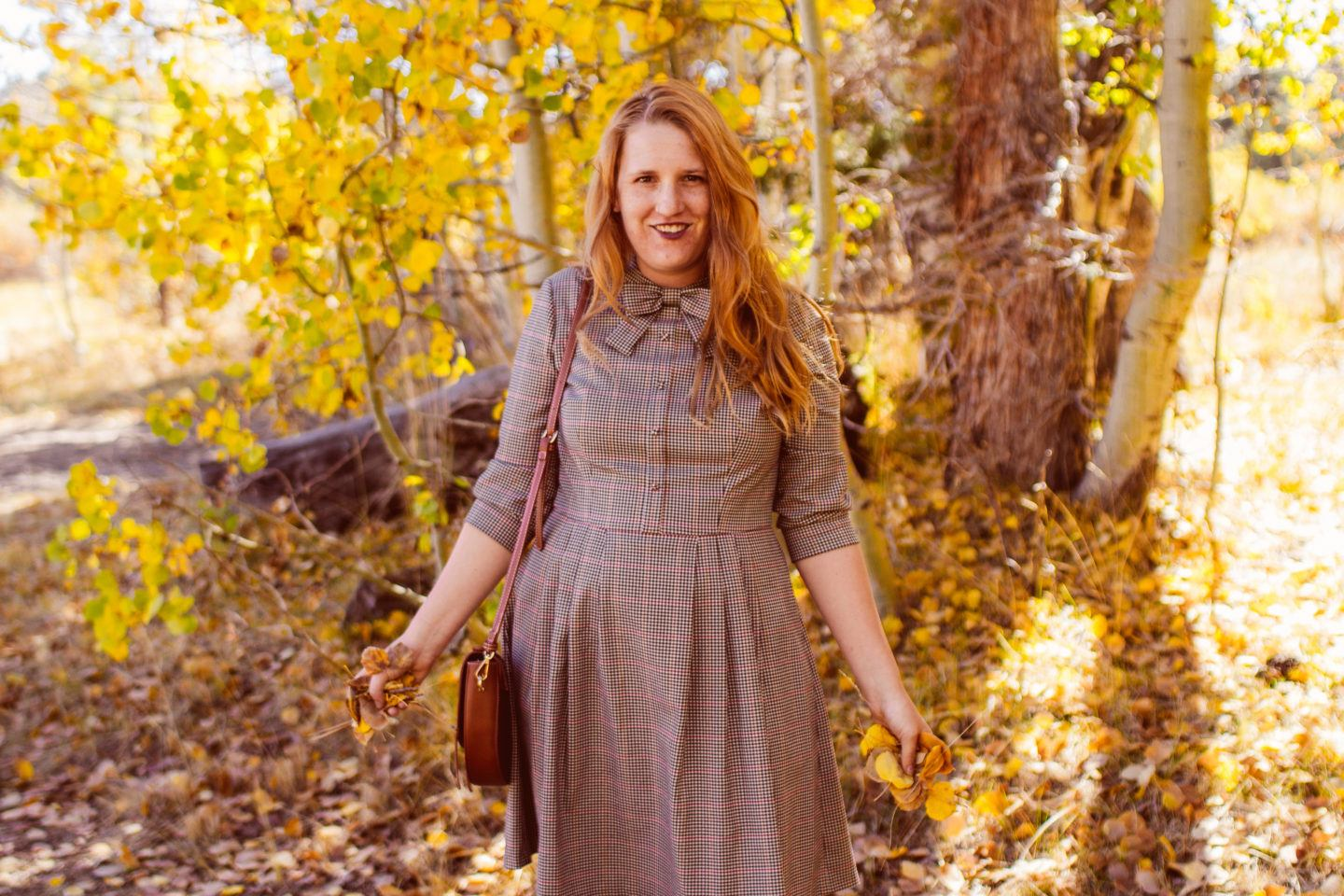 My Gal Meets Glam Dress In Fall Foliage