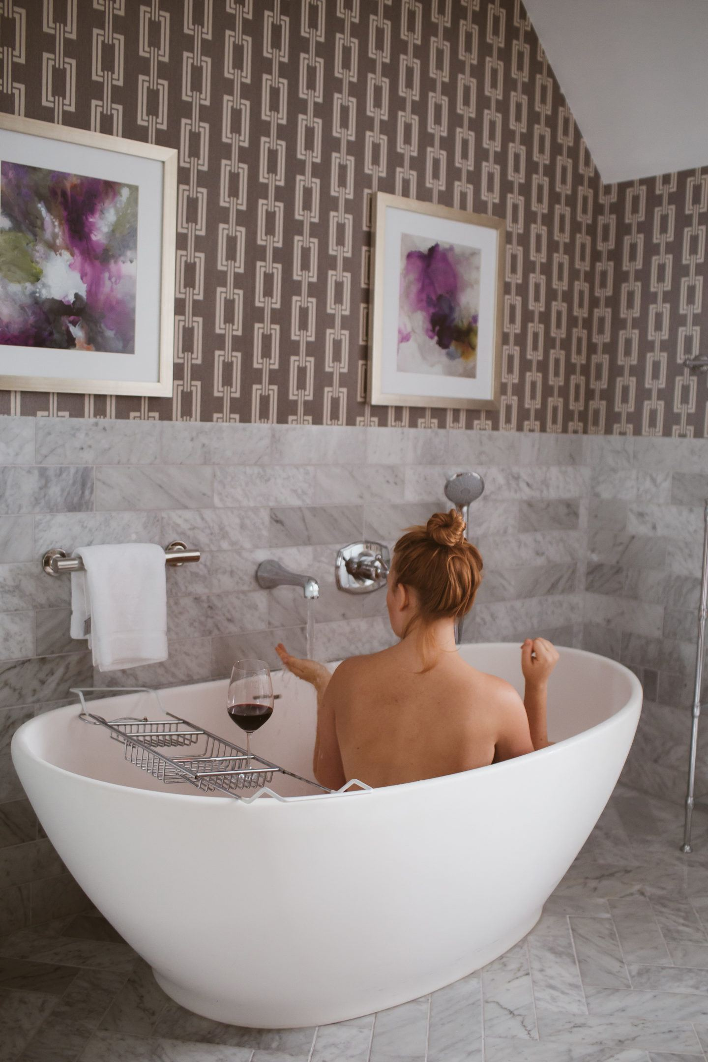 woman in tub at claremont hotel