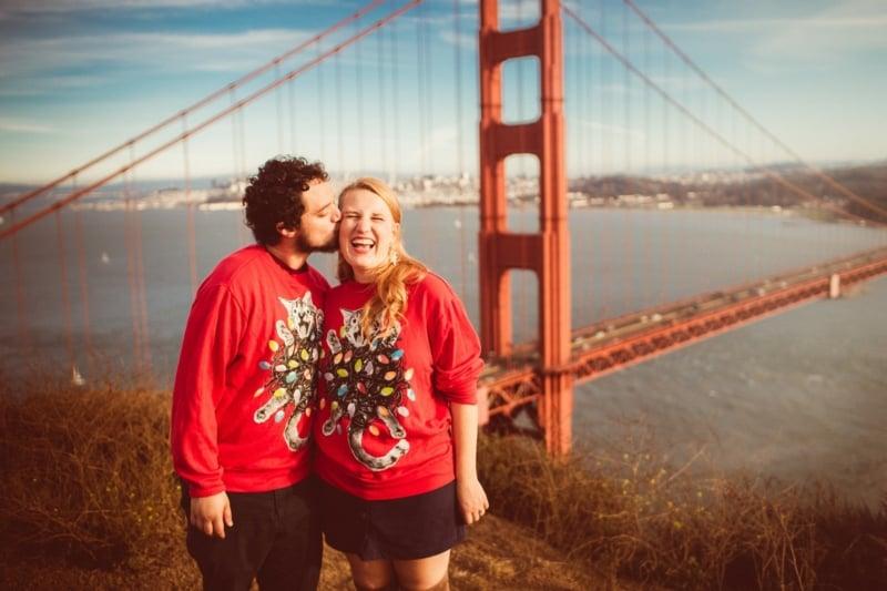 man and woman at Golden Gate Bridge Overlook