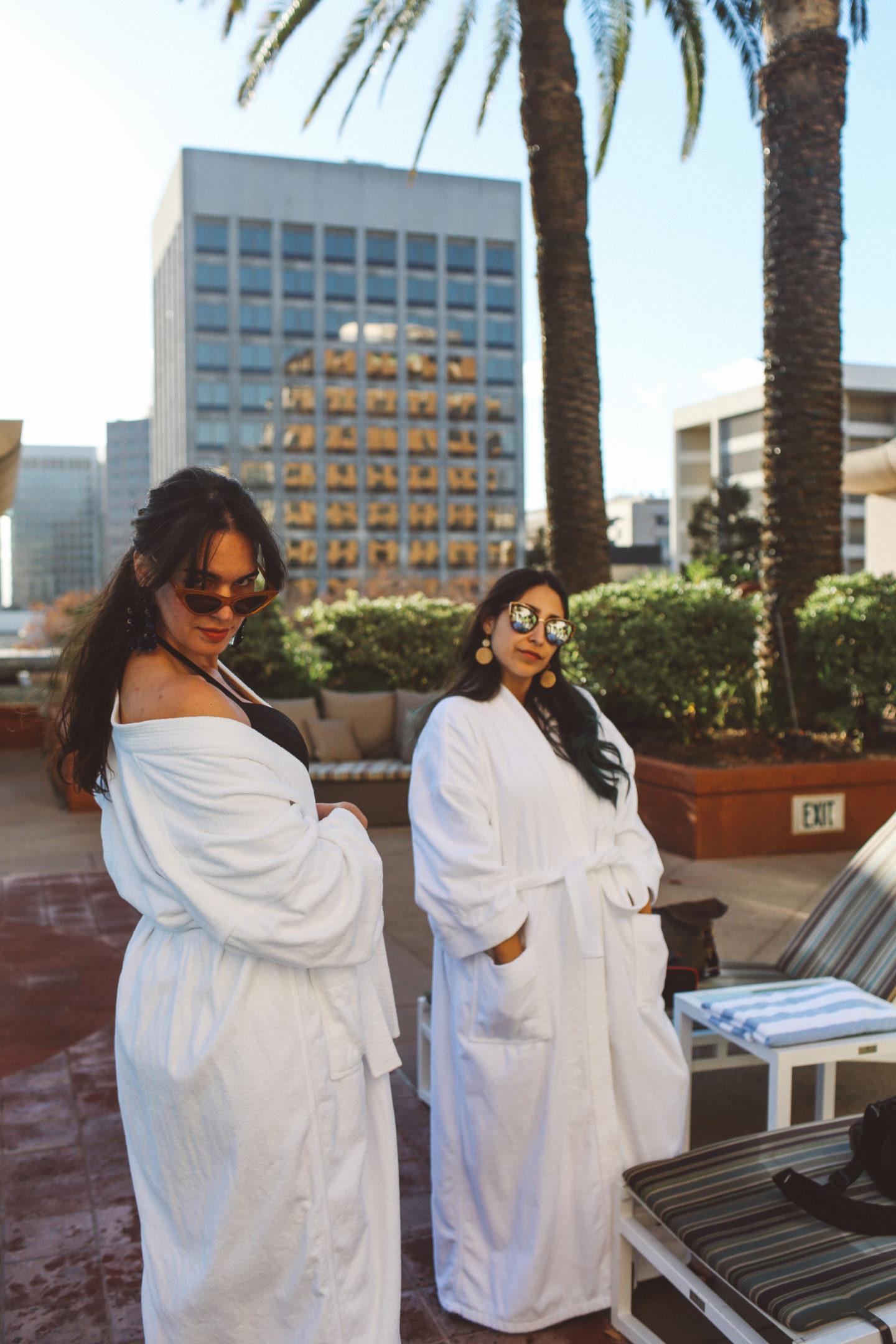 women in robes