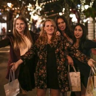 Women with shopping bags at santana row