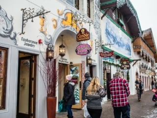 Shops in downtown Leavenworth, WA