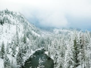 Cascade Mountains in the snow