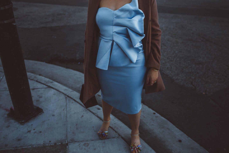 Stunning Baby Blue Fan Dress