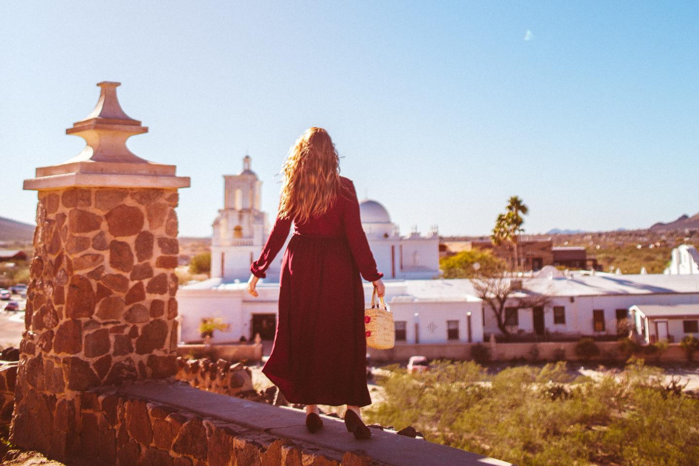 The Red Dress At The Mission San Xavier Del Bac