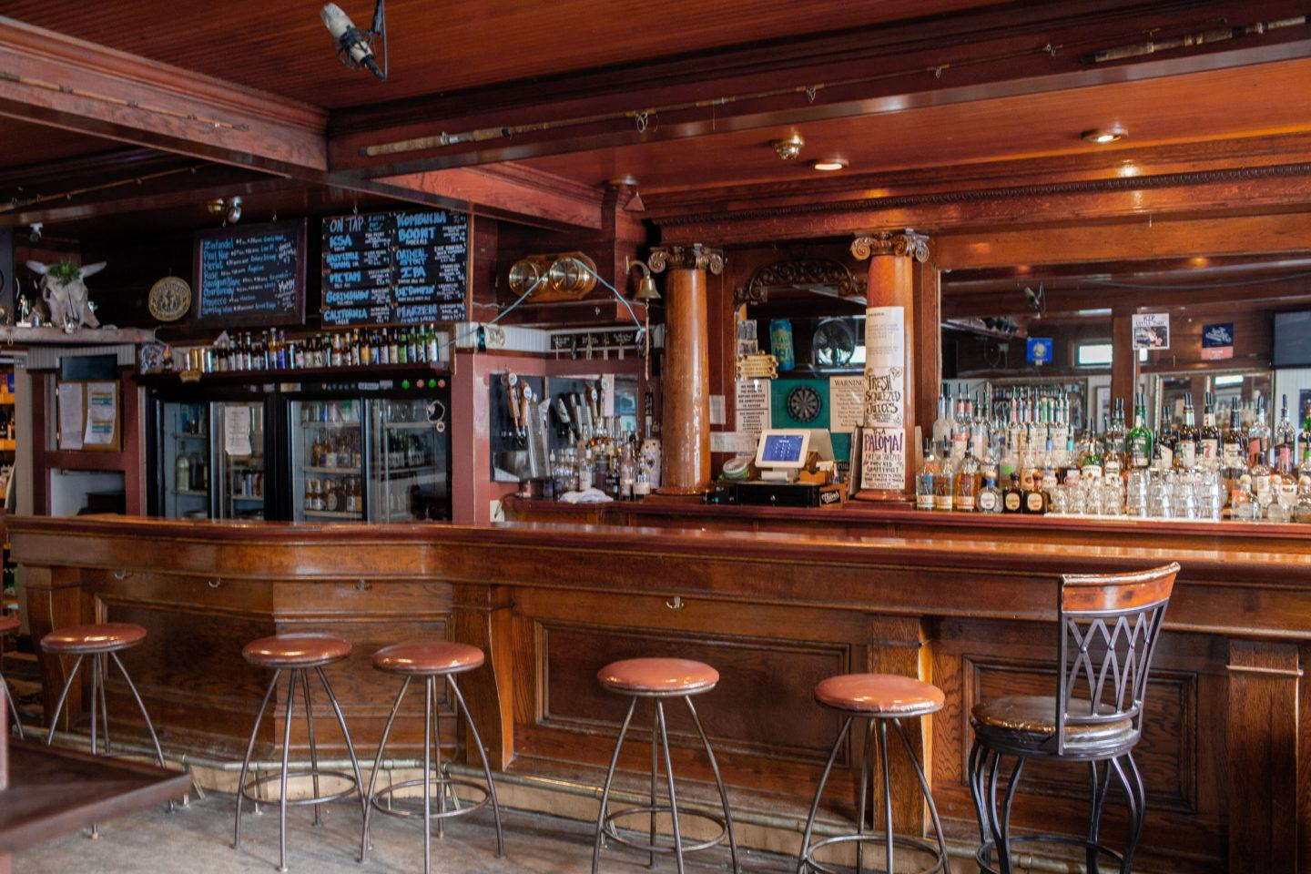 Inside Smiley's Saloon, A Historic Bolinas Hotel