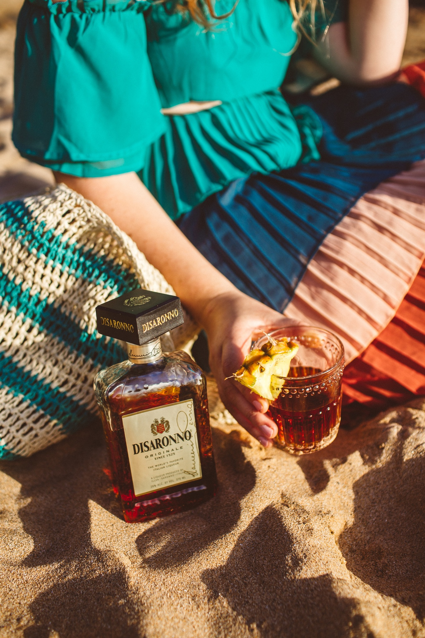 Disaronno Sour on the beach in maui