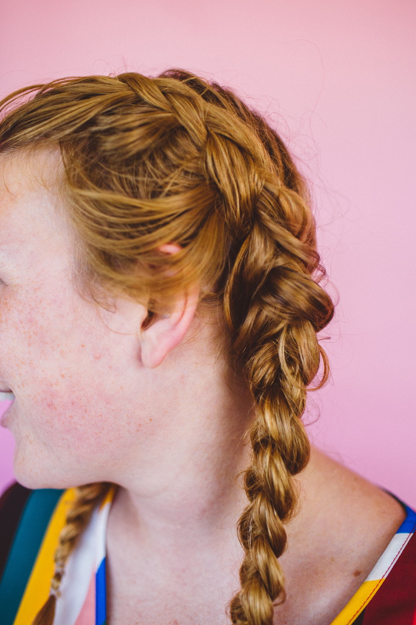 Pigtails for curls with no heat