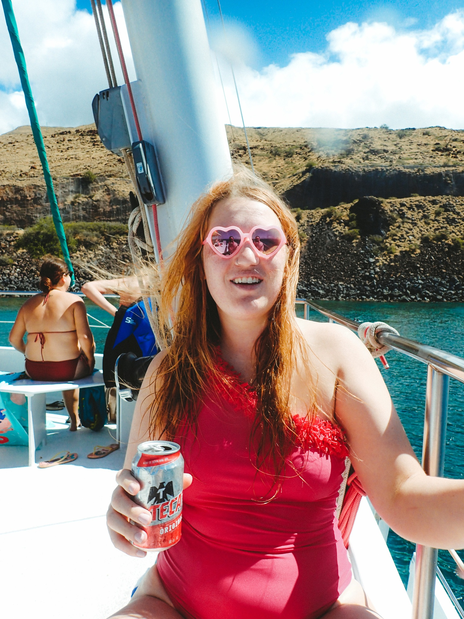 Snorkel Maui Hawaii Cruise beer