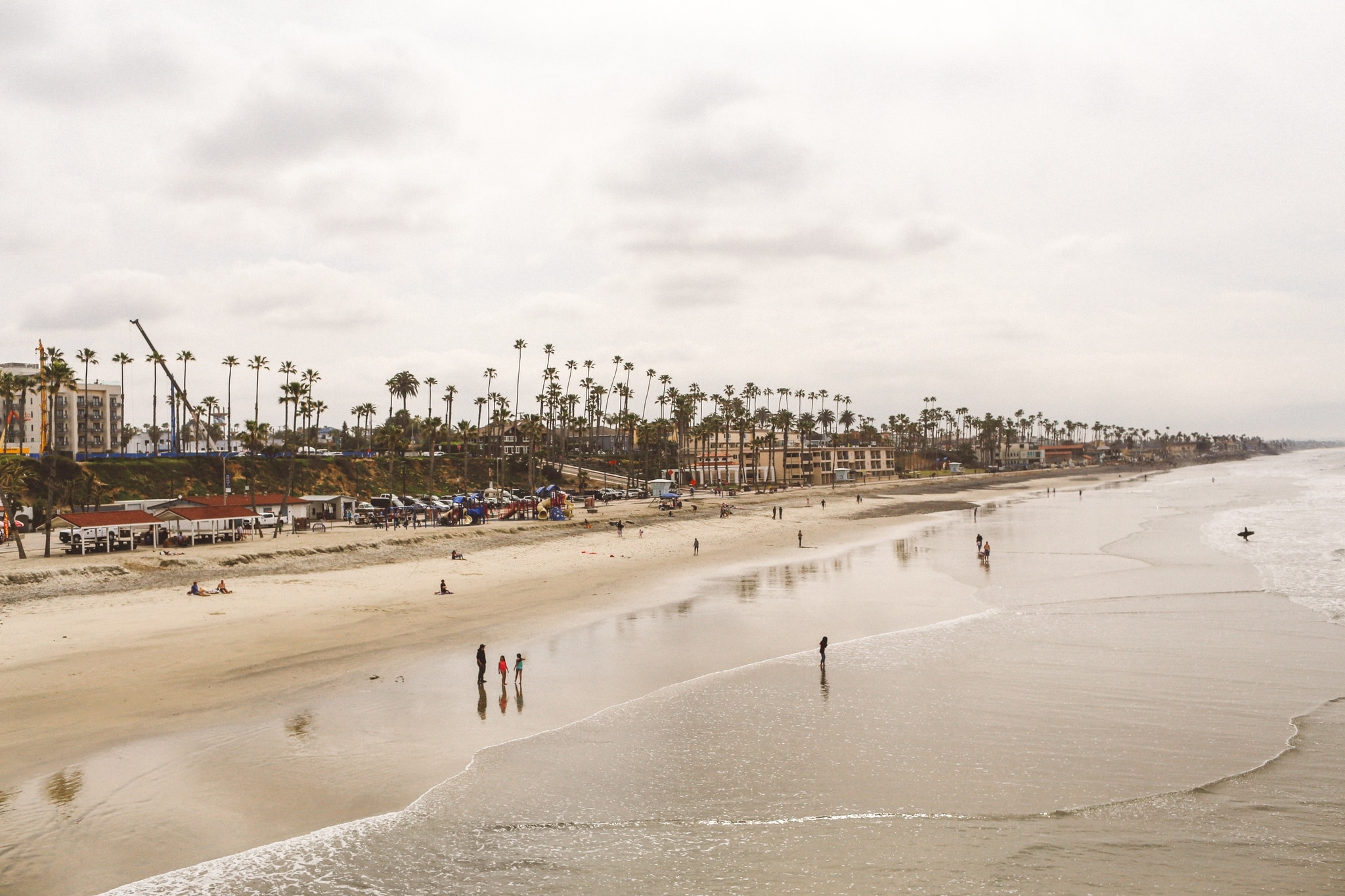 Panoramic view of the beach in Oceanside, Ca