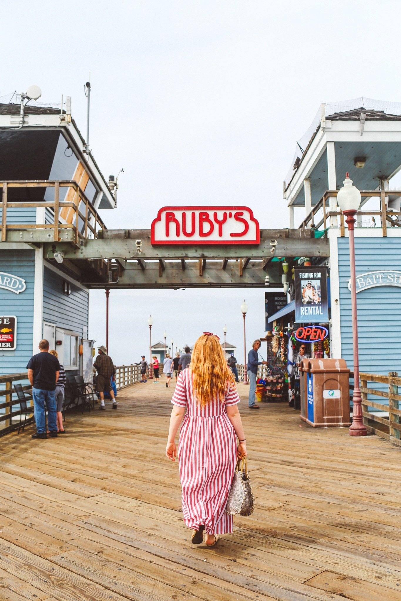 Ruby's Steakhouse on the pier in Oceanside, Ca