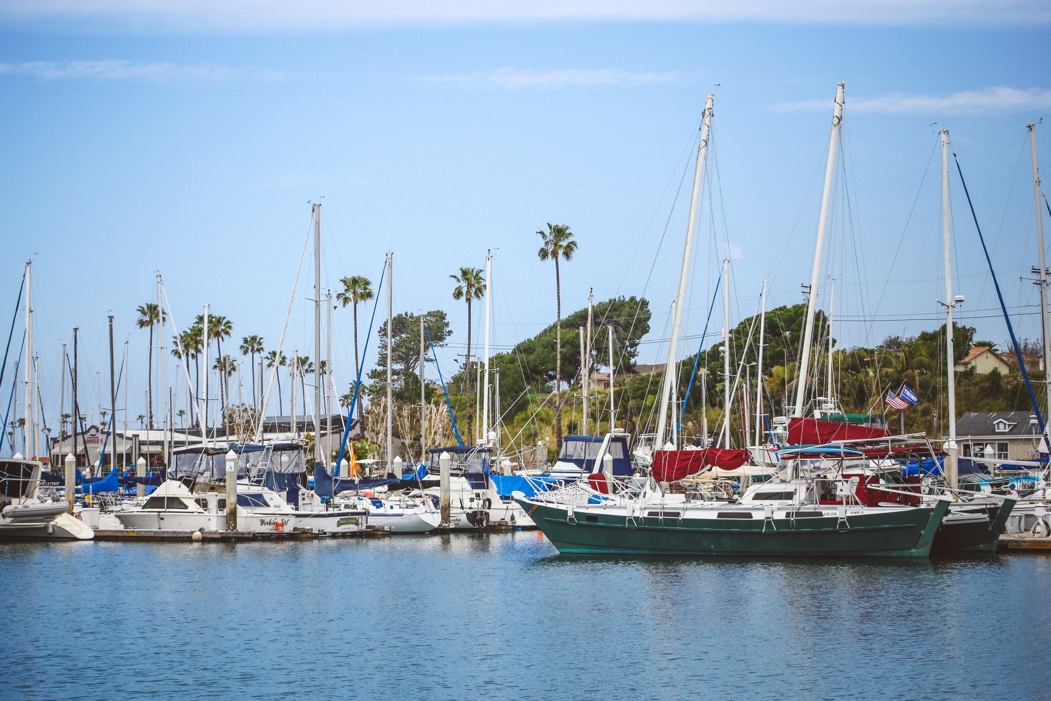 Boats at the docks in Oceanside, Ca