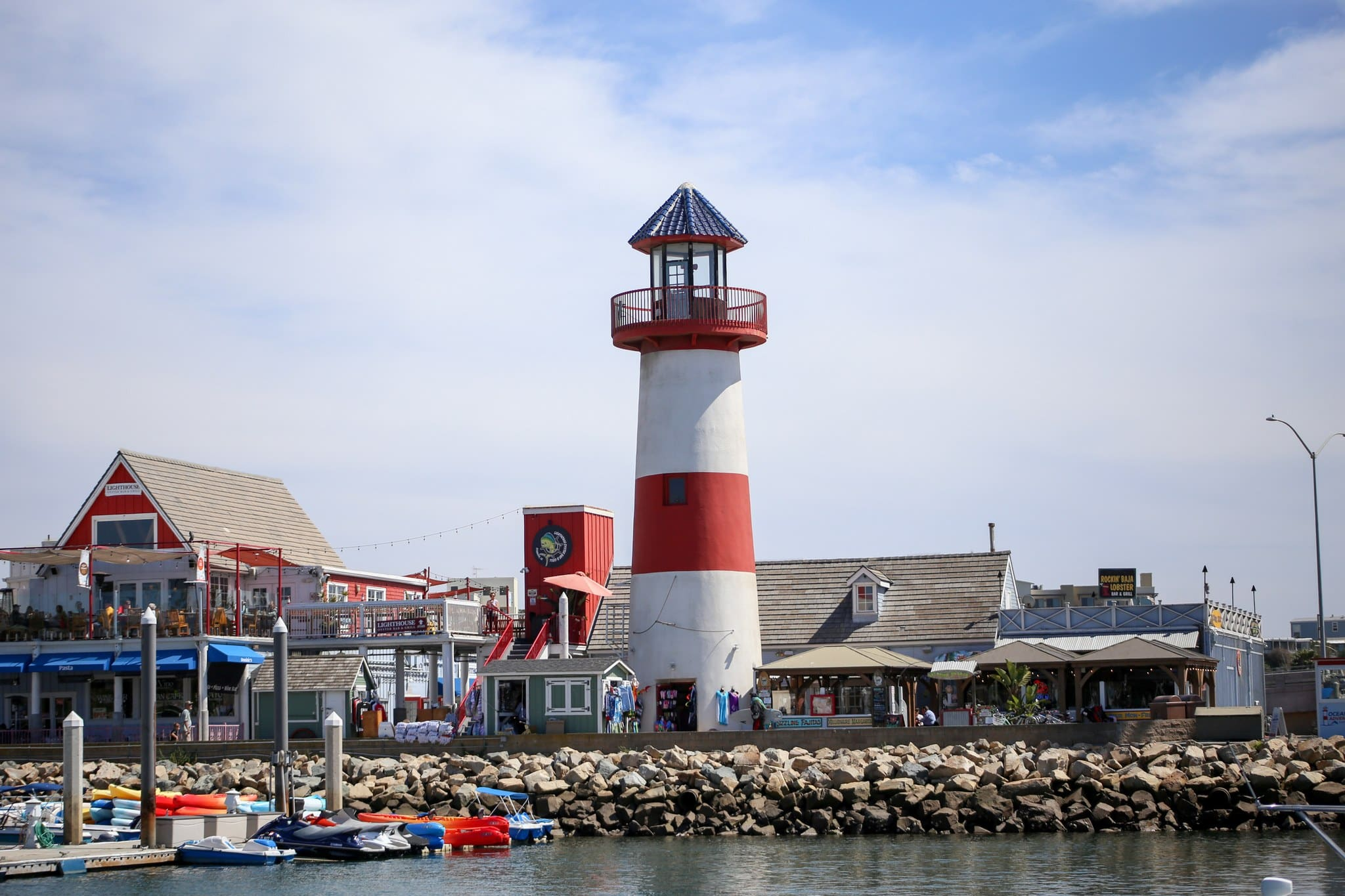 Lighthouse on the pier in Oceanside, Ca