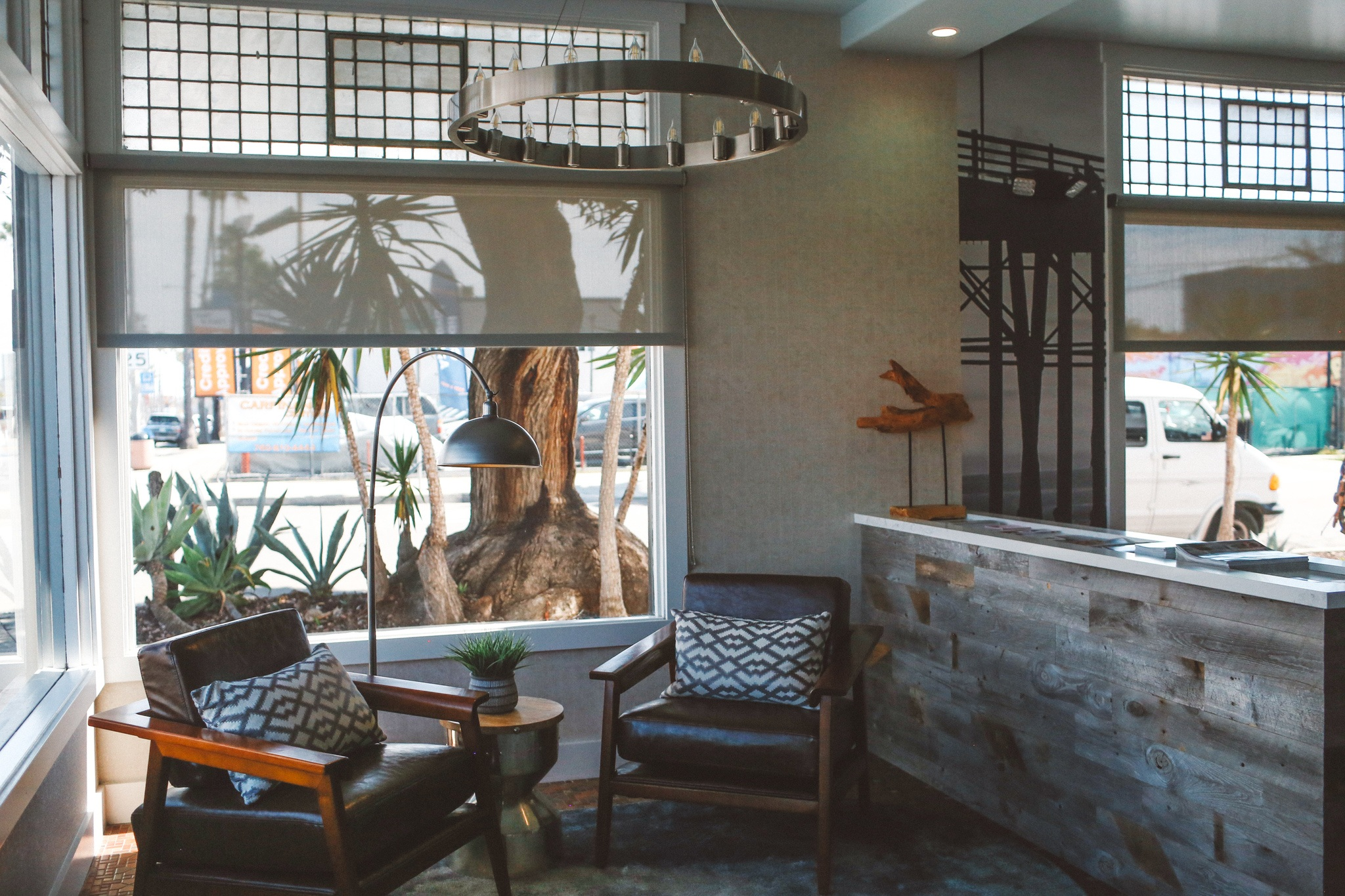 Interior of the Fin Hotel in Oceanside, Ca