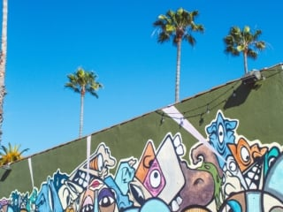 Mural on the side of The Whet Noodle in Oceanside, Ca